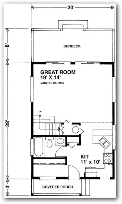 Plano de casa de 75 metros cuadrados