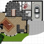 Plano de casa de lujo