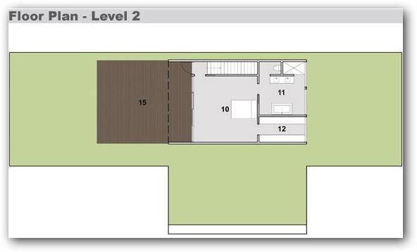 Plano de casa moderna en barrio privado