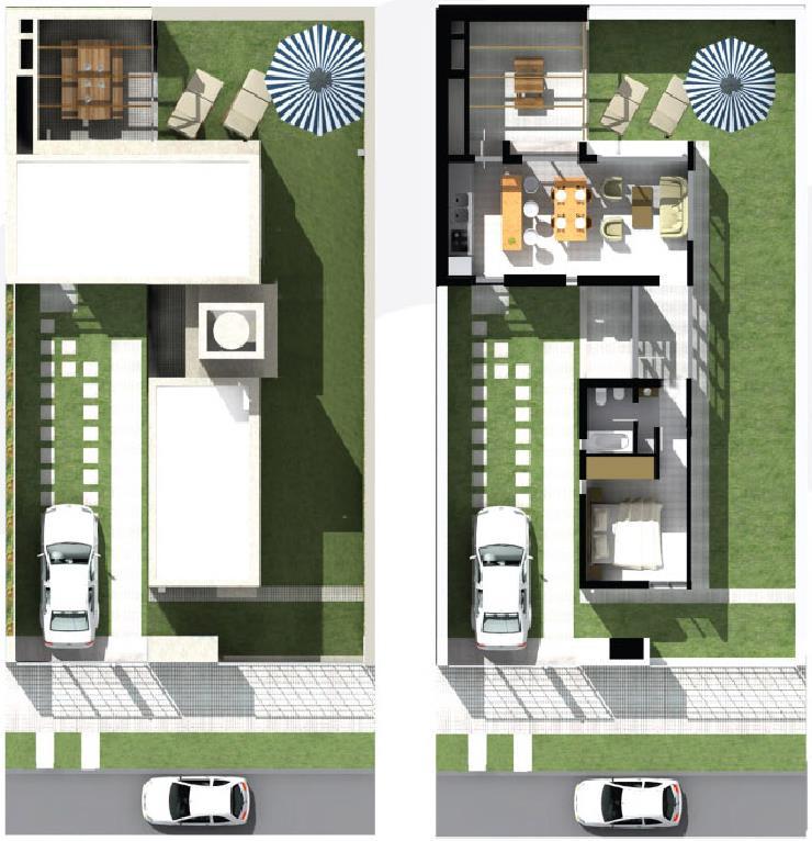 Ver imagenes d plano duplex 3 dormitorio y garaje planos for Casa clasica procrear terminada