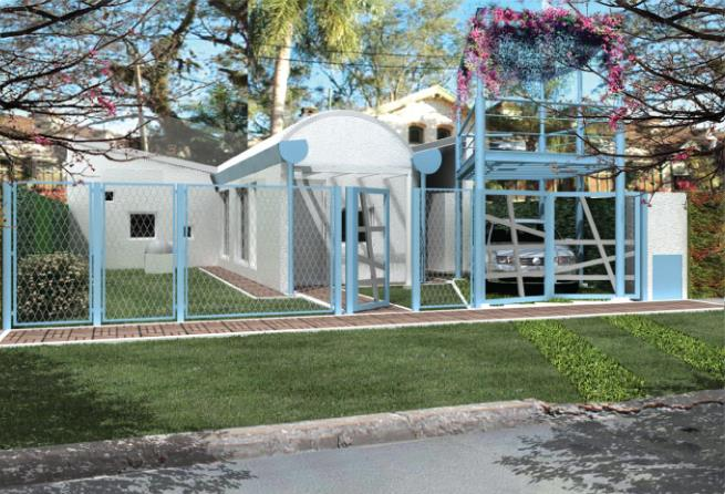 Fachada casa plan PROCREAR