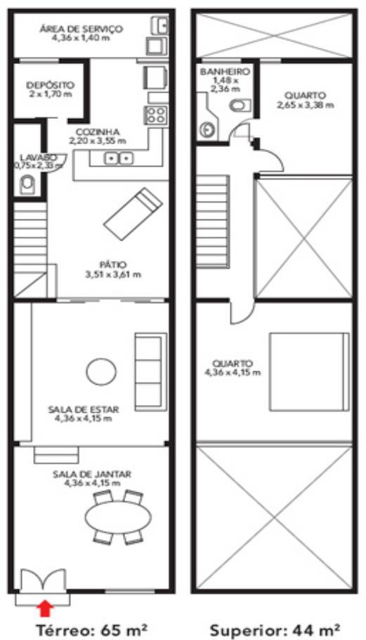 Las casas esquineras de dos plantas modelos planos de casas - Distribucion casa alargada ...