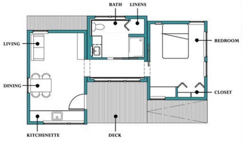 Plano de casa de 50 metros cuadrados