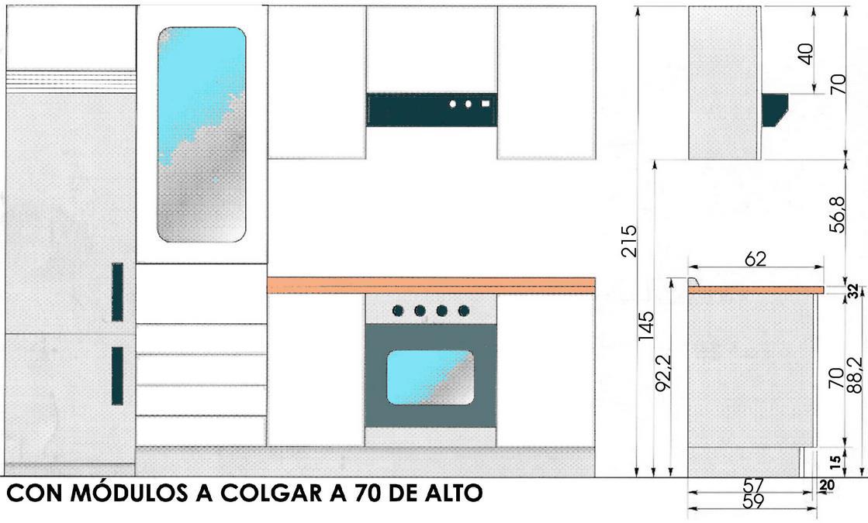 Disenos de cocinas integrales cuadradas con barra de arco for Medidas de mesones para cocina