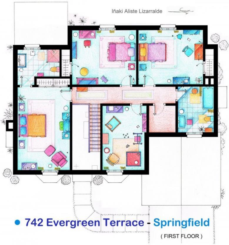 Plano de la casa primera planta