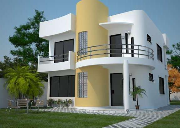 Fachada de casas pequenas minimalistas de dos pisos for Fachadas casas de dos pisos pequenas