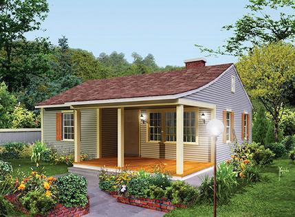 Casa peque a con 70 metros cuadrados for Fachadas de casas de 5 metros de ancho