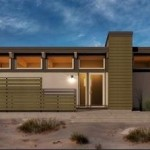 Plano de casa conceptual moderna y con 1 dormitorio