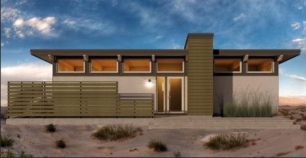 Fachada de casa conceptual