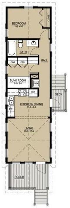 Construcciones con palet planos de casas for Casas estrechas y alargadas