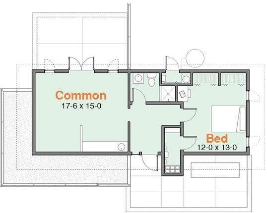 Plano de casa conceptual moderna