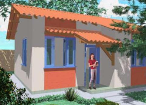 Plano de casa de 3 habitaciones