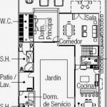 Plano de casa de 400m2 de garaje para 3 vehículos