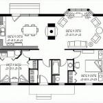 Plano de casa elevada y con bowindow
