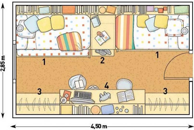 Plano de dormitorio para ni os - Dormitorio para ninos ...