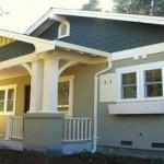 Plano de casa estilo norteamericano de 2 dormitorios