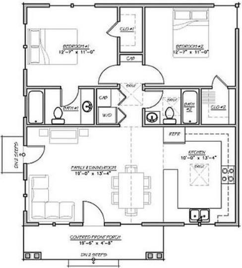 planos de casas 8 x 10
