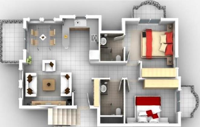 Como dividir un departamento de 50 metro cadrado planos for Planos de apartamentos modernos
