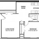 Plano de departamento muy pequeño y una sola habitación