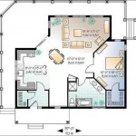 Plano para casa moderna de 1 dormitorio y elevada
