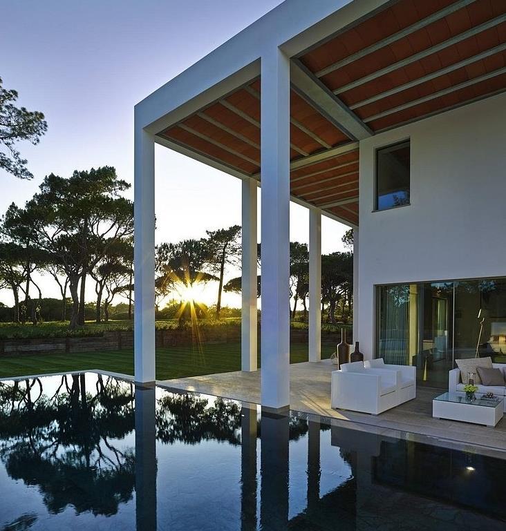 Casa moderna con impresionante decoración