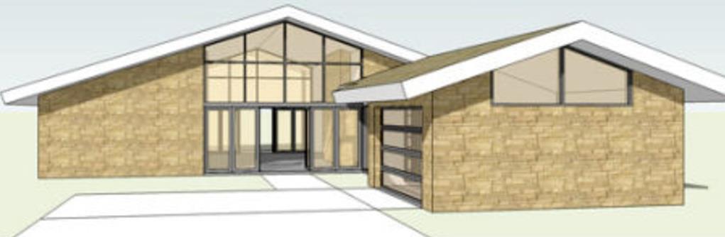 Casa rústica de 3 dormitorios, 2 baños y un gran techo