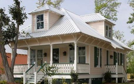 Fachada bonita de casa de 3 dormitorios