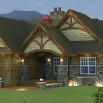 Plano de casa rústica de 3 dormitorios y 3 baños