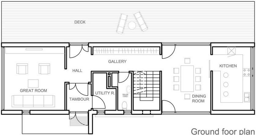 Planos de casas planos de casas - Casas estrechas y largas ...