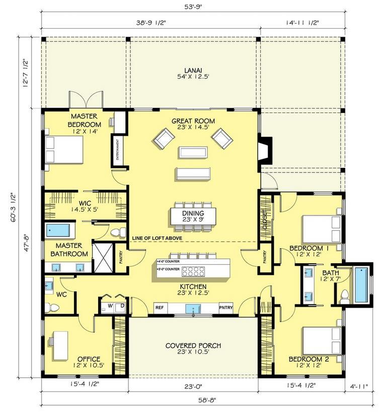 Plano de casa de lujo de 200 metros cuadrados