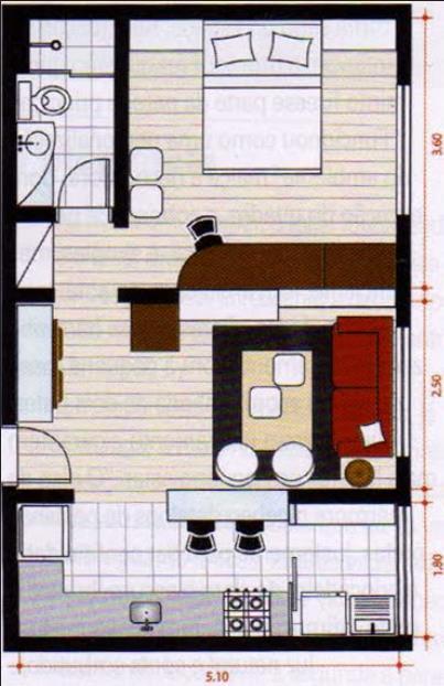 Plano de casa gratis de un dormitorio y un ba o for Planos de piletas de natacion