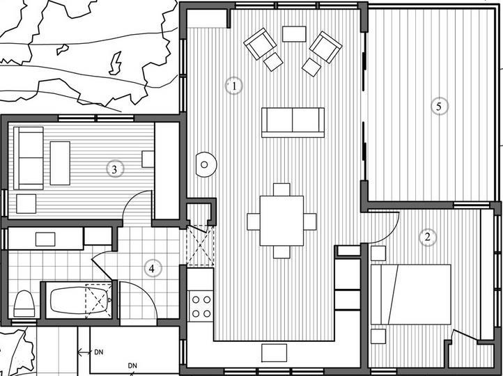 Techos con caidas diferentes planos de casas for Construccion de chimeneas para casas
