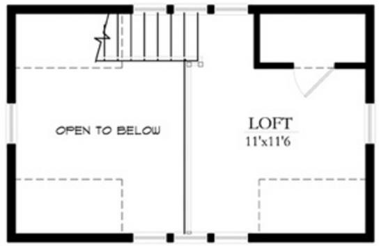 Plano de casa pequeña planta alta