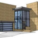 Plano de casa moderna en 2 pisos y con garaje