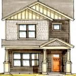 Plano de casa pequeña para terreno angosto