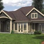 Plano de casa tradicional americana de 4 dormitorios