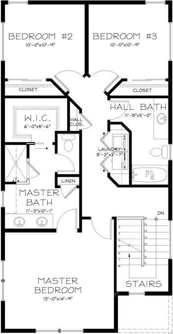 Plano de casa para terreno angosto
