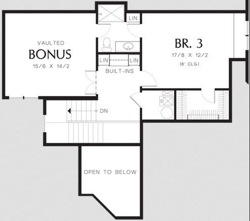 Plano de casa tradicional americana