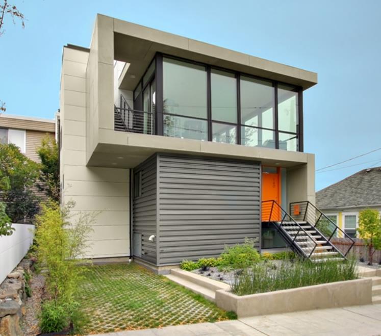 Casa moderna de 2 pisos con un gran diseño