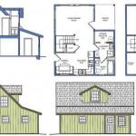 Completo plano de casa de 2 pisos