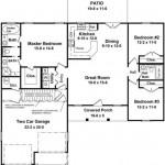 Plano de casa de 3 dormitorios con patio