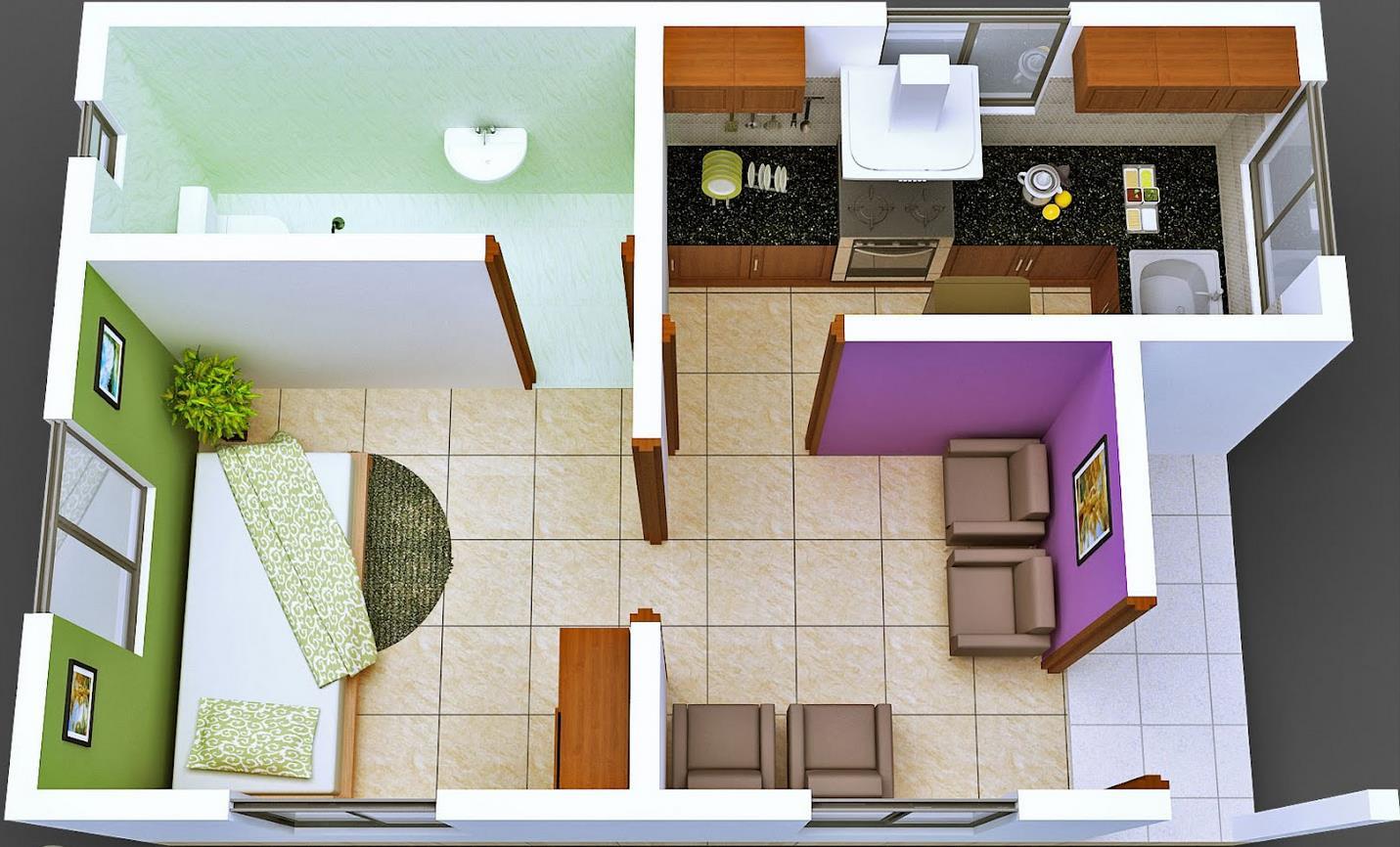 Planos de casas dormitorio con bano privada planos de casas for Pisos para departamentos pequenos