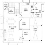 Plano de casa en 2 pisos con 2 habitaciones amplias