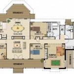 Plano de casa de 4 dormitorios con garage doble
