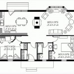 Plano de casa de dos habitaciones con bowindow