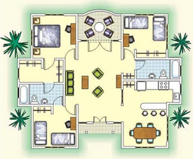 Plano-de-casa-de-tres-habitaciones
