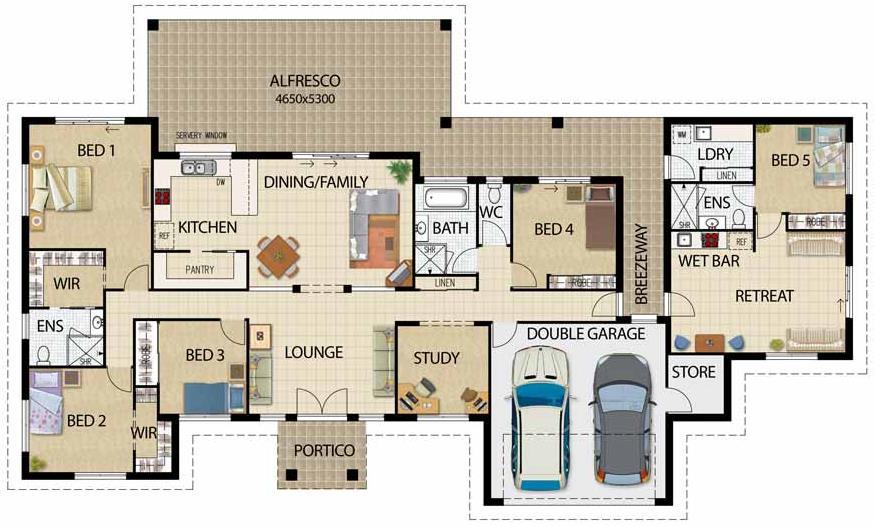 Plano de casa departamento