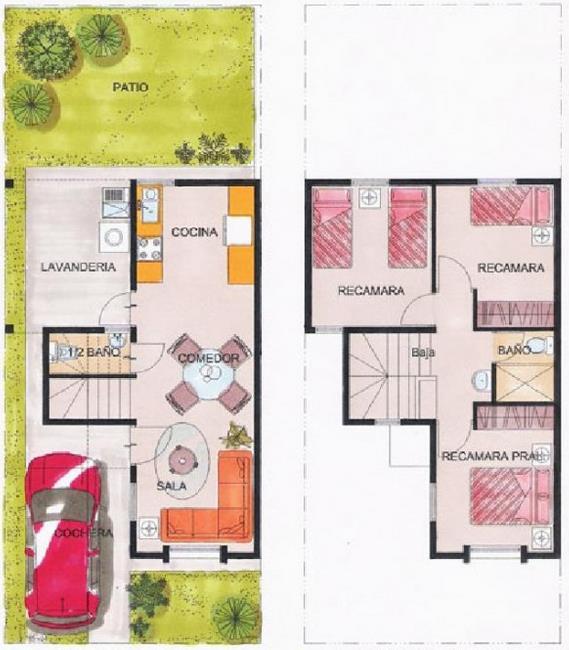 Fachadas antiguas de francia planos de casas for Casa de una planta sencilla