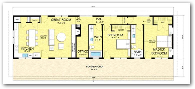 Plano-de-casa-moderna-rectagular