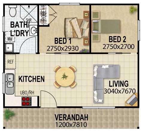 Plano de casa moderna y grande